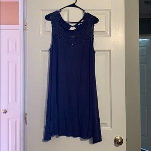 SUPER SOFT FLOWY CASUAL BLUE SHIFT DRESS